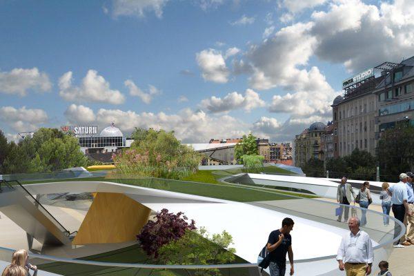 Széll Kálmán tér rekonstrukciója – koncepció tervpályázat 1